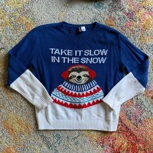 Sweaters - Sloth Ugly Christmas Sweater sz small
